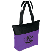 Two-Tone Zippered Tote