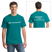 Sexual Assault Awareness T-shirt - 2 location imprint