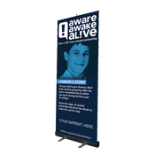 Retract-A-Banner Aware Awake Alive