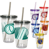Full-Color 16oz Acrylic Savvy Sipper