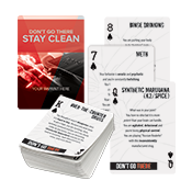 Custom Substance Abuse Prevention Playing Cards