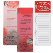 Red Ribbon What to Say Bookmark/Ruler