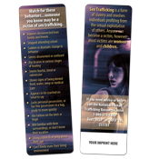Sex Trafficking Awareness Bookmark