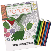 Adult Coloring Book w/pencils