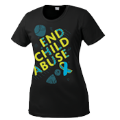 Child Abuse Awareness Performance Shirt-Women