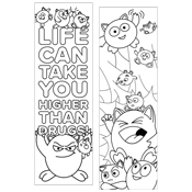 Red Ribbon Coloring Bookmark