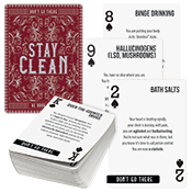 Substance Misuse Awareness Playing Card Deck (stock)
