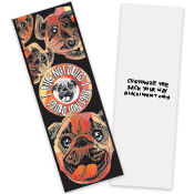 Red Ribon Bookmark Pugs