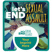 PopSocket® Teal with Sexual Assault Card- full color