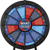 """What Would You Do?"" Mini Wheel- Sextortion/Social Media Graphics Only"
