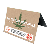 Facts about Marijuana Table Tent Large