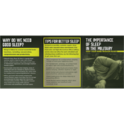 Importance of Sleep Booklet- Military