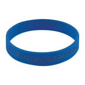 Aware Awake Alive Silicone Wristband