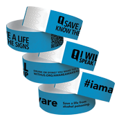 Aware Awake Alive Paper Wristband