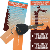 Blended Military Family Key Tags