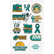 Sexual Assault Prevention Decals for School-Aged Kids
