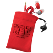 Red Ribbon Earbuds