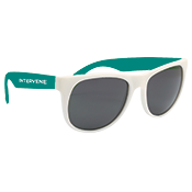 Sport Sunglasses Teal and White