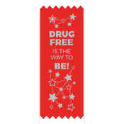 Drug Free Red Ribbon Stars