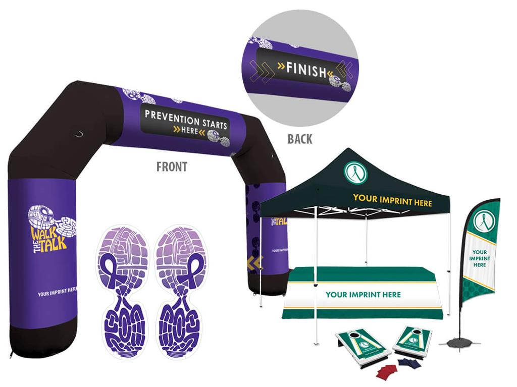 PSA event arch and outdoor event kit